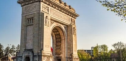 Arcul de Triumf ( Arch of Triumph ) is a triumphal arch located in the northern part of Bucharest, on the Kiseleff Road. Was build for the Heroes of the War of Independence and World War I.