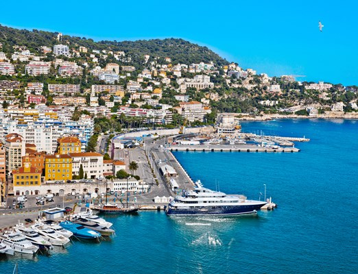Bilete de avion Nice; Port of Nice. France. Seascape. Summer day.