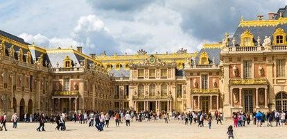 Outside view of Famous palace Versailles. The Palace Versailles was a royal chateau