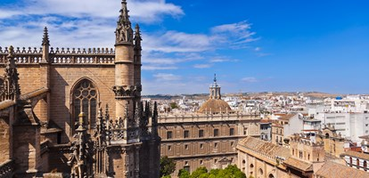 Cathedral La Giralda at Sevilla Spain - architecture background