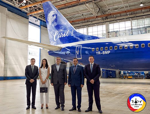 new Blue Air Carol I livery