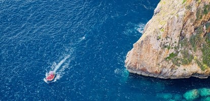 Blue Grotto area from above
