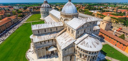 Pisa Cathedral and Baptistery view