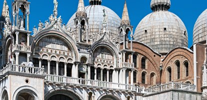 Basilica of San Marco, Venice - Italy. Image assembled from few frames
