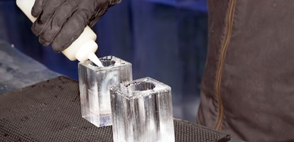 Ice bar drinks