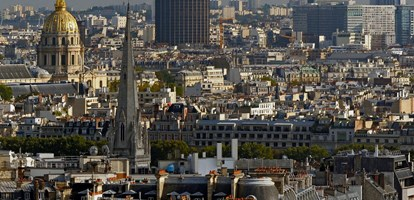 Tour Montparnasse seen from Arc de Triomphe
