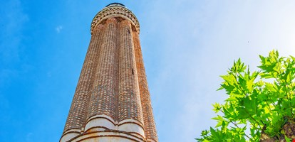 Yivli minare (fluted minaret), also named Alaaddin or Ulu (Grand) mosque is one of the most unusual medieval landmarks of Antalya, Turkey.
