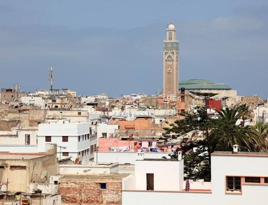 View over the old city of Casablanca, Morocco