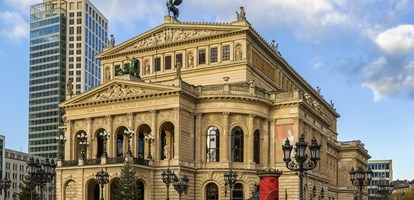 The original opera house in Frankfurt is now the Alte Oper (Old Opera), a concert hall and former opera house in Frankfurt am Main, Germany.