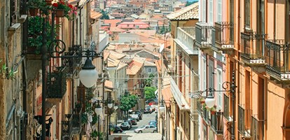 View of a typical Italian architecture - the city Vibo Valentia