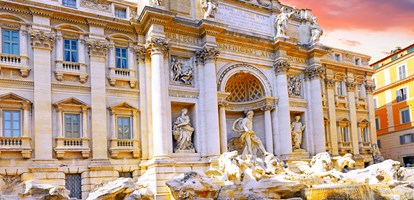 Fountain di Trevi - most famous Rome's fountains in the world.